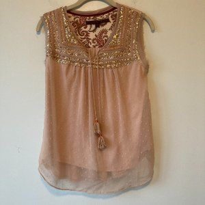 ANTHROPOLOGIE A Common Thread Sequin Top Small